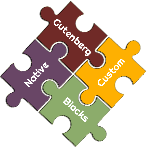 Native or Custom Gutenberg Blocks Puzzle Pieces
