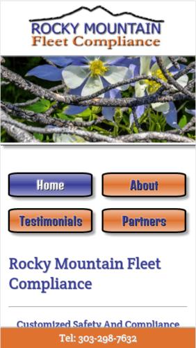 Rocky Mountain Fleet Compliance Website Mobile