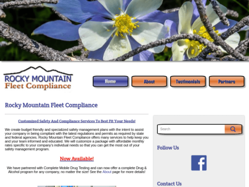 Rocky Mountain Fleet Compliance Website Tablet Landscape