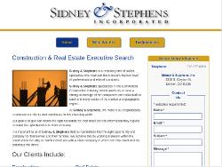 Sidney & Stephens Website Tablet Landscape