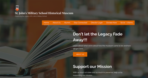 SJMS Museum Website Desktop