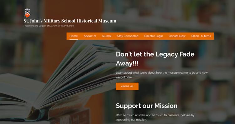 SJMS Museum Website Desktop