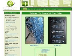 Structured Plus Communications Website Tablet Landscape