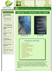 Structured Plus Communications Website Tablet Portrait