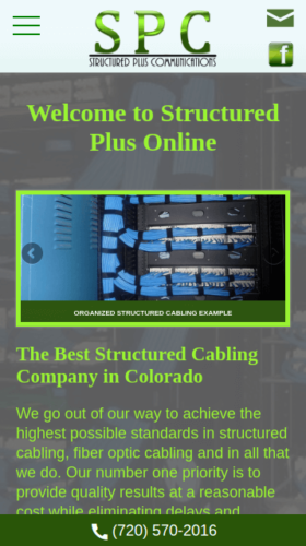 Structured Plus Communications 2016 Website Mobile