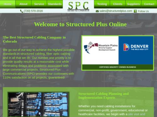 Structured Plus Communications 2016 Website Tablet Landscape