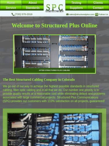 Structured Plus Communications 2016 Website Tablet Portrait
