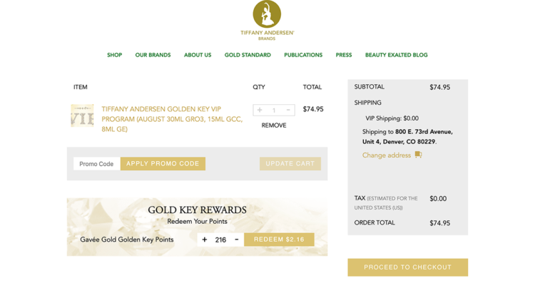 Woocommerce VIP Rewards Custom Plugin Created for Tiffany Andersen Brands