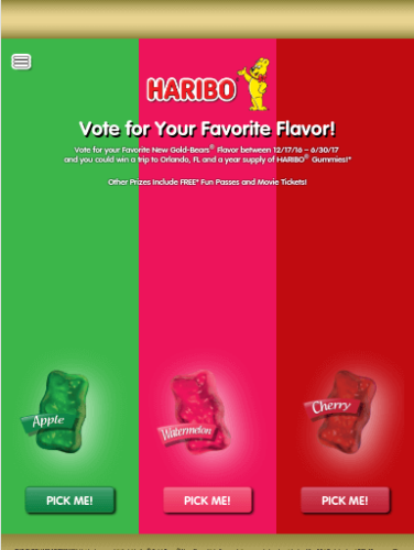 Vote Haribo Promotional Website Tablet Portrait