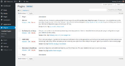 WordPress Under the Hood Plugin Admin Screen