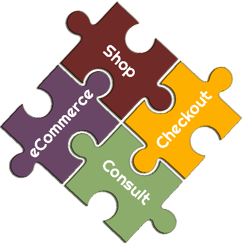 eCommerce Shop, Checkout Consulting Puzzle Pieces
