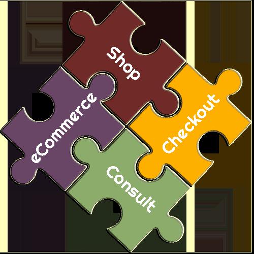 eCommerce Shop, Checkout Consulting Puzzle Pieces