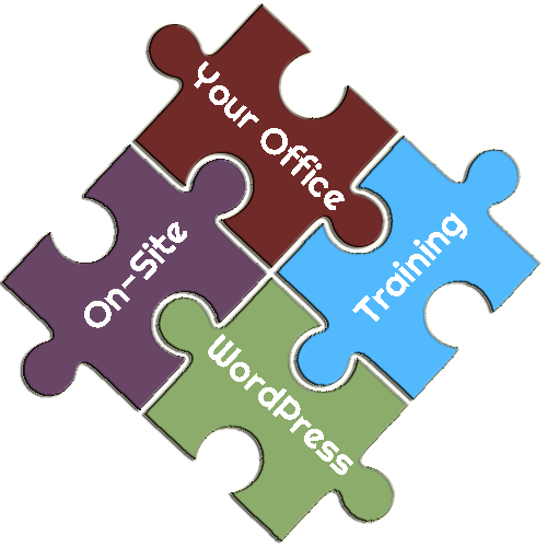 On-Site, Your Office, WordPress Training Puzzle Pieces