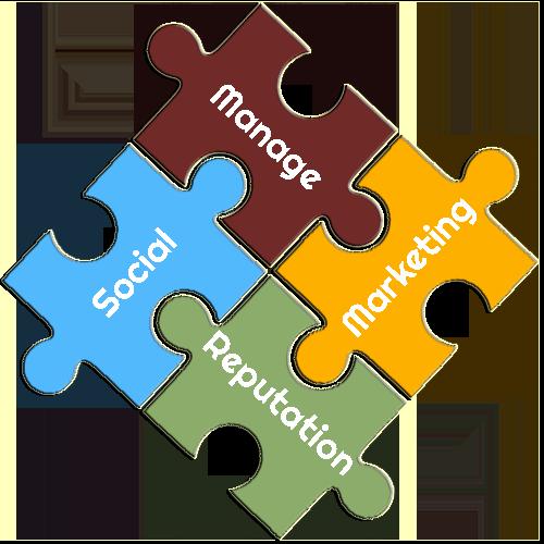 Social Marketing Reputation Management Puzzle Pieces