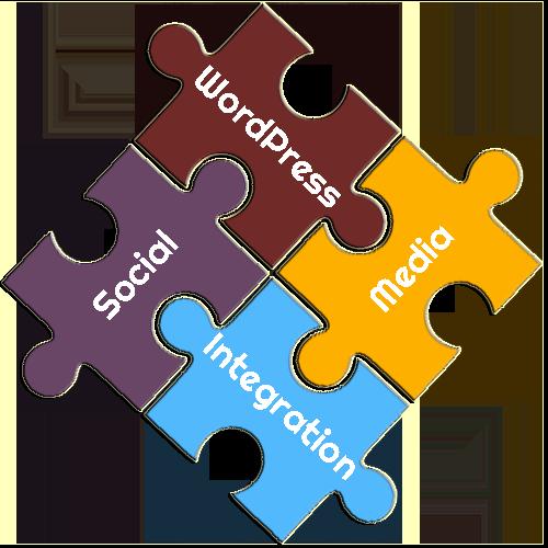 Social Media WordPress Integration Puzzle Pieces
