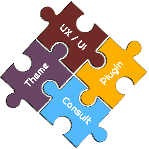 Theme, UX/UI and Plugin Consulting Puzzle Pieces