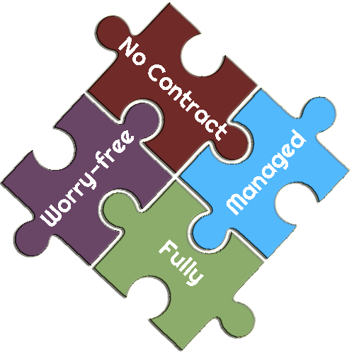 Worry-free, No Contract, Fully Managed WordPress Hosting Puzzle Pieces