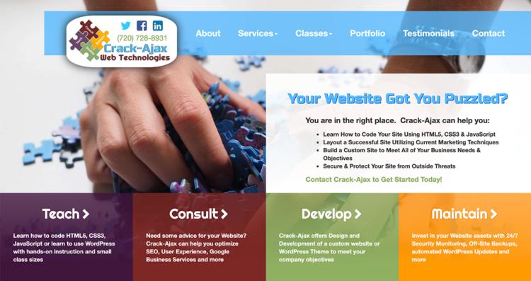 Crack-Ajax 2015 Website Desktop