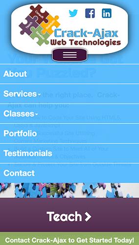 Crack-Ajax 2015 Website Mobile Menu