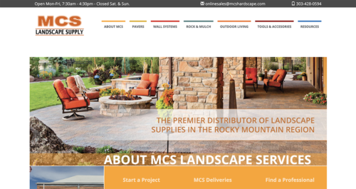 MCS Landscape Supply Website Desktop
