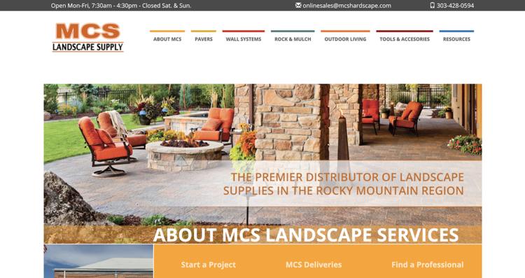 MCS Landscape Supply Website Desktop
