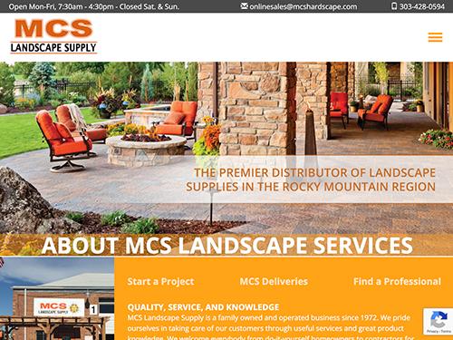 MCS Landscape Supply Website Tablet Landscape