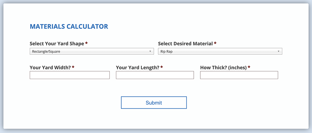 MCS Landscape Supply Materials Calculator