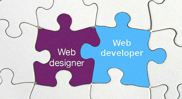 Web Designer and Web Developer Puzzle Pieces and How they Fit Together