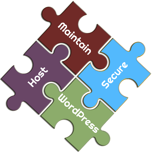 Host, Maintain, Secure WordPress Puzzle Pieces
