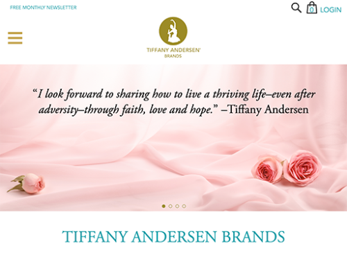 Tiffany Andersen Brands Website Tablet Landscape
