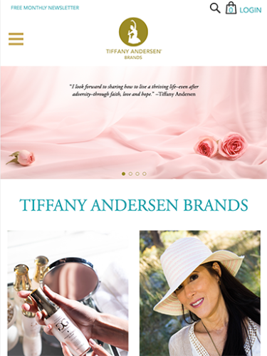 Tiffany Andersen Brands Website Tablet Portrait