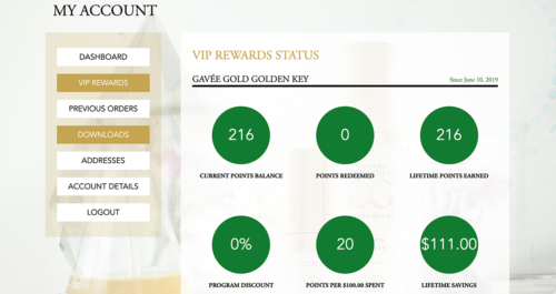 Tiffany Andersen VIP Rewards Tracking WordPress Woocommerce Plugin